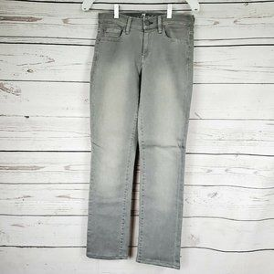 7 For All Mankind Gray Low Rise Jeans Straight Leg